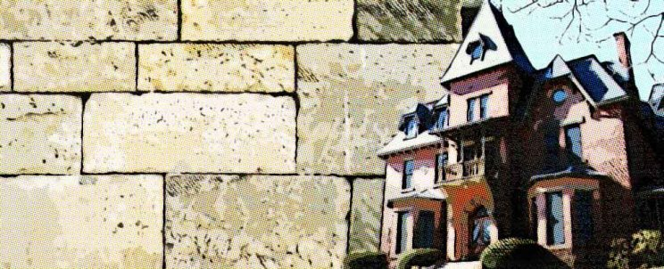 revestimiento exterior con piedra de laja
