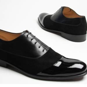zapatos de cuero combinados