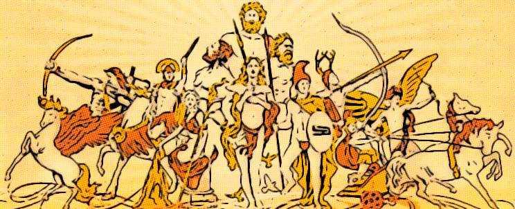 Aventuras y genealogía de los dioseses griegos