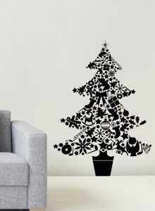 Dibujos De Arboles De Navidad Pintados.Imagenes De Arboles De Navidad En La Pared