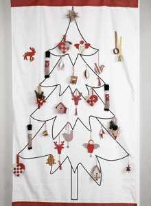 rbol navidad pared tela - Arbol De Navidad De Tela