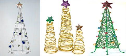 C mo hacer mini rboles de navidad f cilmente - Arbol de navidad de alambre ...