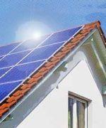 celdas fotovoltaicas instaladas en un techo