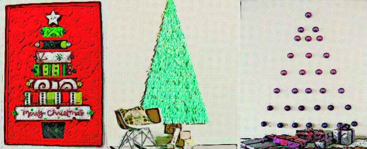 C mo hacer un rbol de navidad en la pared - Arbol de navidad de pared ...