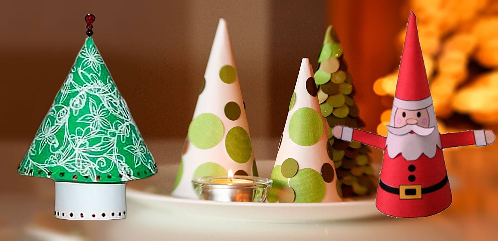 C mo hacer mini rboles de navidad f cilmente for Figuras de navidad para decorar