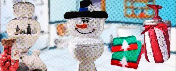 cómo decorar un baño para la navidad