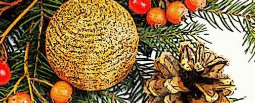 Decoración de navidad con elementos naturales