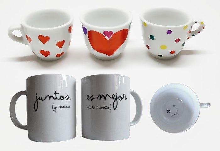 Manualidades para san valent n f ciles y muy bellas - Tazas decoradas a mano ...