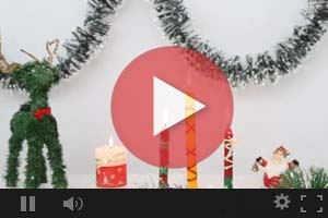 Videos para hacer velas navideñas