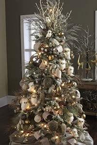decoracion arbol navidad blanco