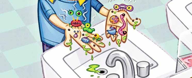 higiene de las manos en niños