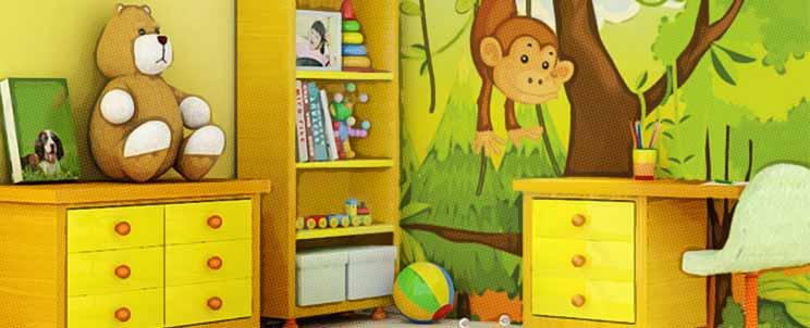 ideas de decoración de interior de habitación infantil