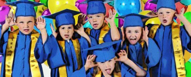 Arreglos de graduación infantil para kinder
