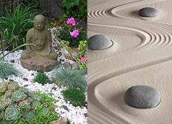 C mo hacer un jard n zen elementos y consejos - Arena para jardin zen ...