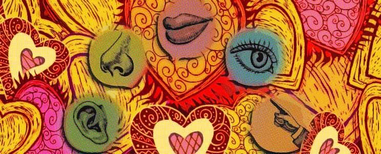 La caja de los 5 sentidos un regalo muy especial for Mural de los 5 sentidos