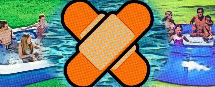 Parches y piscinas inflables c mo reparar un pinchazo for Accesorios para piscinas inflables