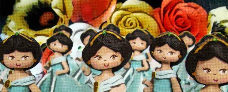 Souvenirs en porcelana fría para 15 años