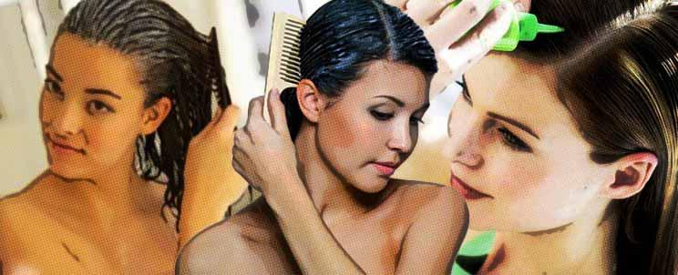 caída de cabello femenino