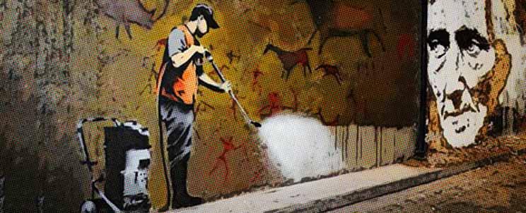 borrar la pintura de grafitis de las paredes