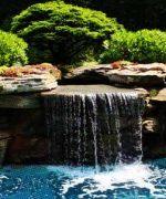 Cascadas artificiales para piscinas