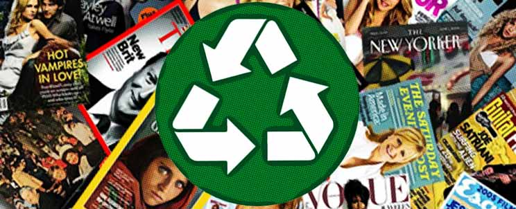 reciclar revistas viejas