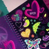 cuaderno pegatinas