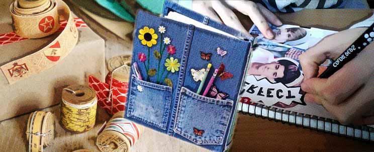 decorar un cuaderno de notas
