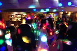 fiesta disco luces
