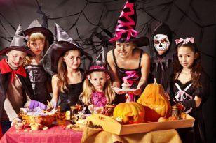fiesta haloween familia