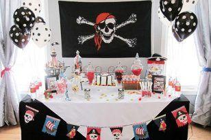 fiesta piratas comida