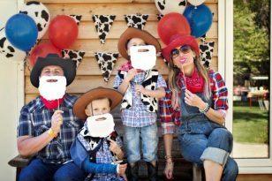 fiesta vaqueros familia
