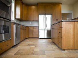 piso cocina marron