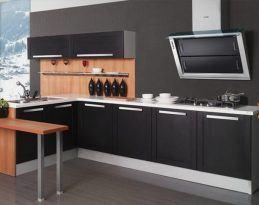 muebles cocina pvc negros